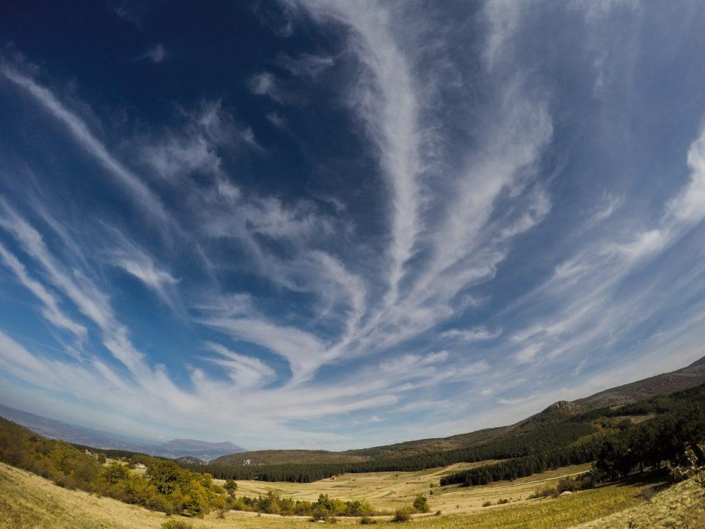 Ozren meadows Panoramic view